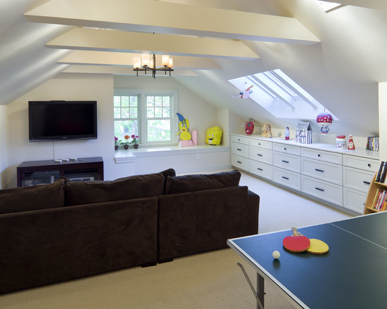 Shingle Style Attic Play Area (Boston)