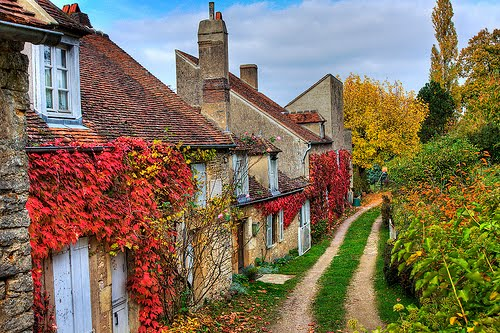 Ancient Village, Vezelay, France