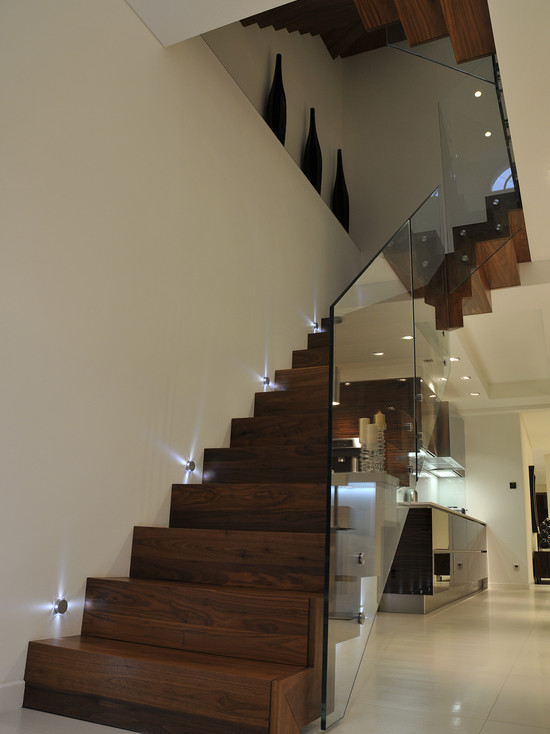 Queens Gardens Staircase With Glass Balustrade (London)