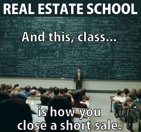 It takes a complex formula and many pro's to get a short sale done correctly!