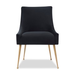 Black Velvet Chair Armchairs Accent Chairs Cohen Dining Liang And Eimil