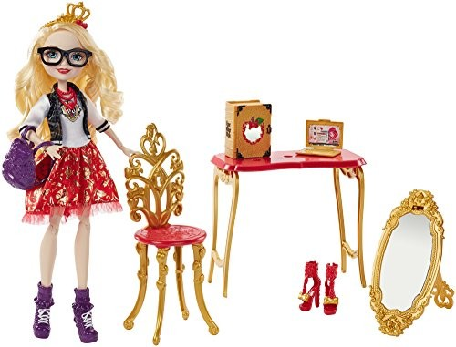 Ever After High Back-To-School Apple White Room to Study Doll