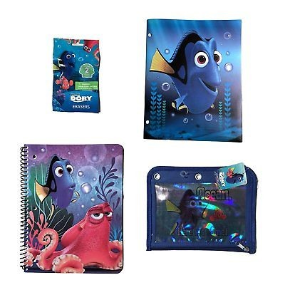 Finding Dory Back To School Bundle: 1 Poly Vinyl 3 Ring Folder, 1 Subject 1 and