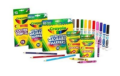 NEW Crayola Back to School Supplies Set Art Set Grades K 1 2 FREE SHIPPING
