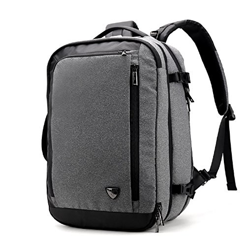 Laptop Backpack 2 In 1 Large Multifunctional Business Backpack 20-35 Liters Anti Thefy Durable Travel School Backpack Water Repellent For Men and Women (Grey)