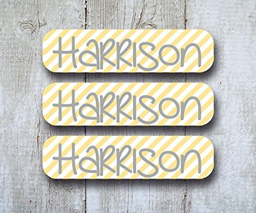 Back to School Labels Package – Personalized Name Labels – Dishwasher Safe Bottle Labels, Iron On, Laundry Care Tag Clothing Labels, and 2 Bag Tags