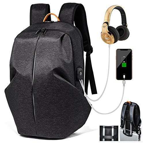 8994a95920e4 Laptop Backpack Business Anti-theft Water Resistant Travel Backpack College  School Bookbag with USB Charging Port Headphone Jack Fit 15.6inch ...