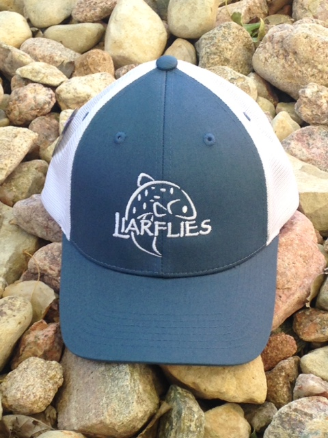 Liarflies-Blue Big Fish Trucker Hat.