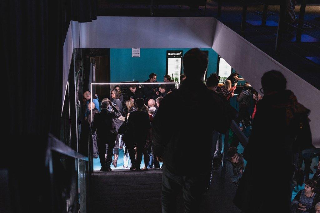 Installation view, foyer stairs, Berliner Festspielhaus, 2018