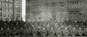 Student Army Training Corps (SATC) at The Catholic University of America, 1918. University Records, CUA Archives.