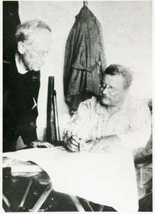 Rev. John Zahm and Theodore Roosevelt, Brazil, 1914. (John Tracy Ellis Papers)