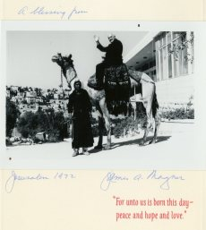 In 1972, Rev. Magner's Christmas card transports us all the way to Jerusalem.