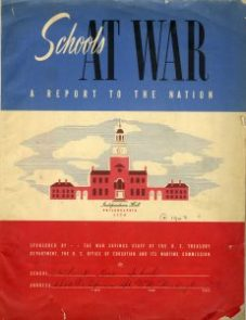 """Schools At War: A Report to the Nation"" was a report that schools around the country filed with the Office of Education and the Wartime Commission during the war. This is the cover of St. Rose's 1943 submission."
