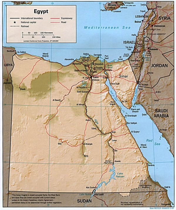 Egypt Maps PerryCasta241eda Map Collection UT Library