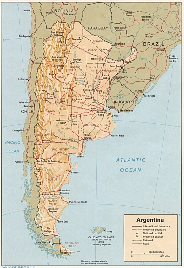 Argentina Maps PerryCasta241eda Map Collection UT