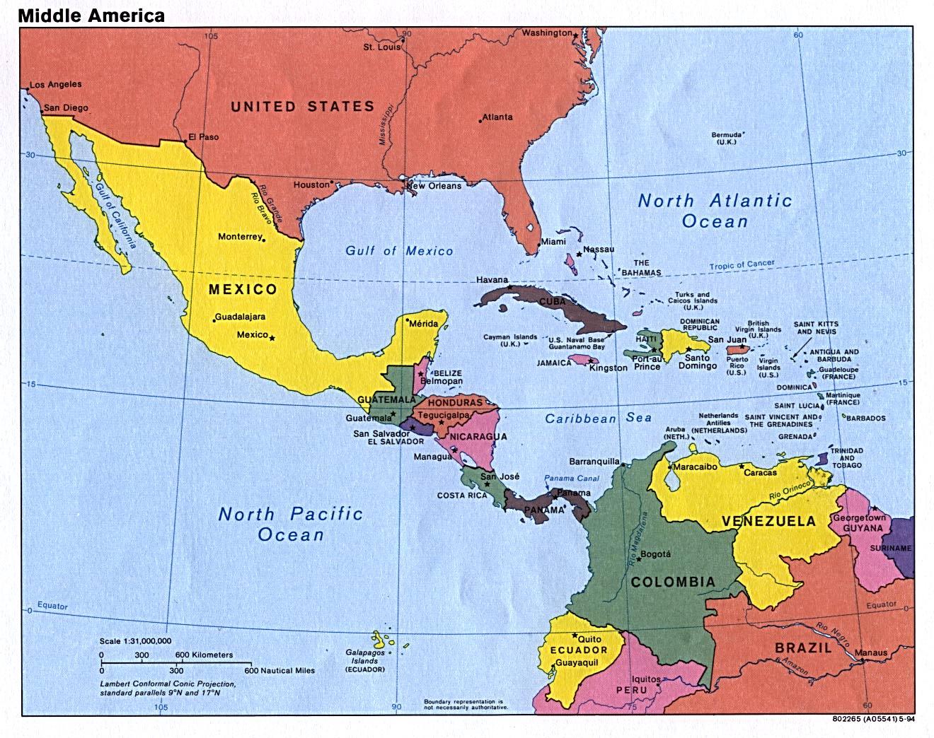 Middle America Americas