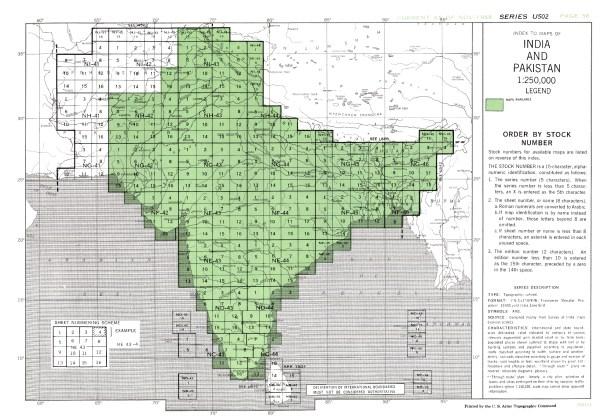 India and Pakistan AMS Topographic Maps PerryCasta241eda