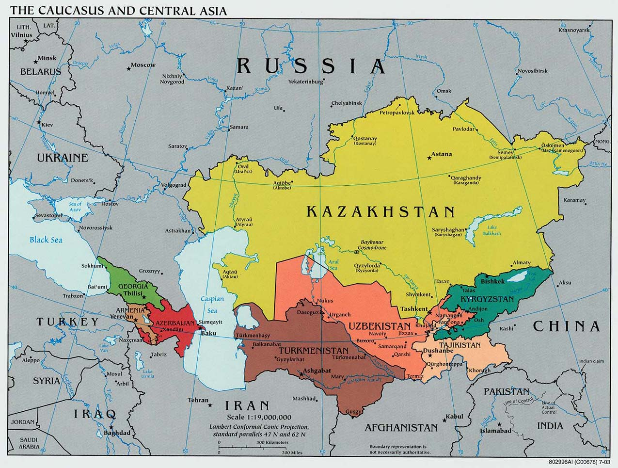 Central Asia Map