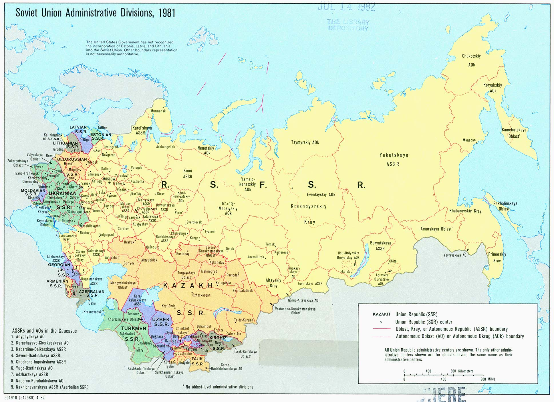 Russia And Post Soviet States Map World Regional