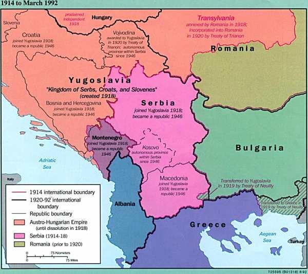 Former Yugoslavia Maps PerryCastañeda Map Collection