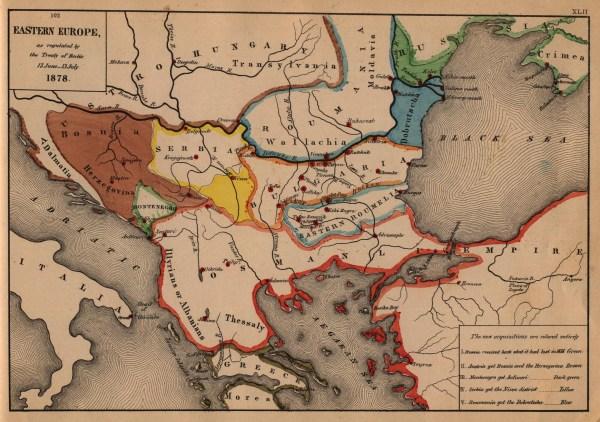 The Balkans Historical Maps PerryCastañeda Map