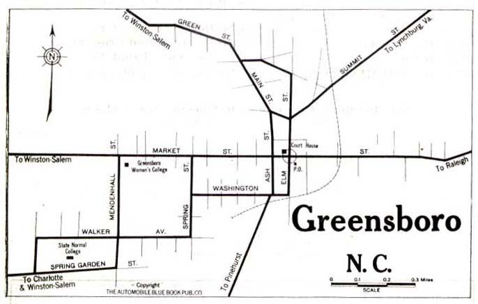 Printable Map Guilford Conorth Carolina
