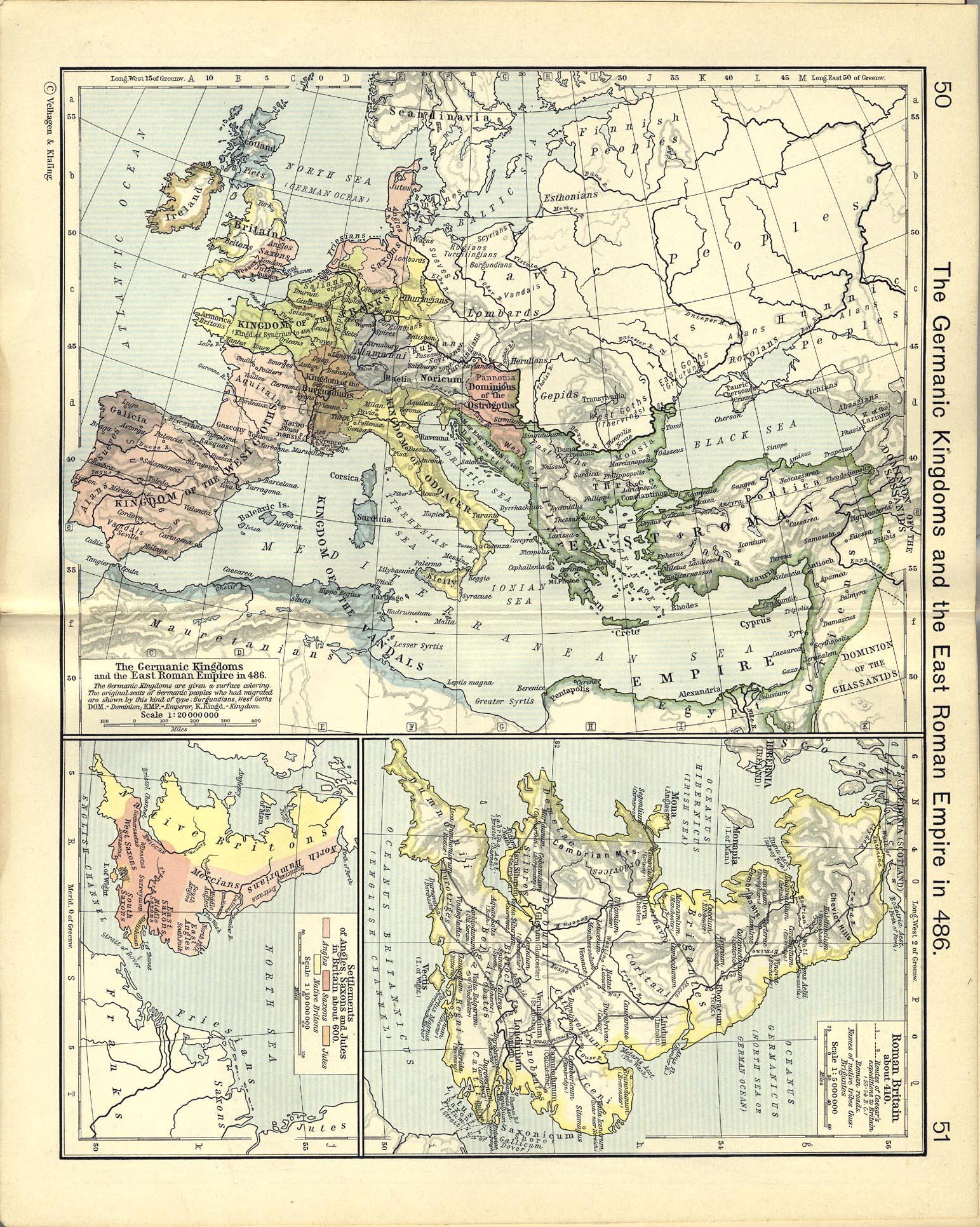Large Map Of Byzantine Empire