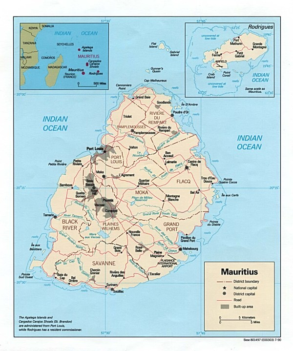 Mauritius Maps PerryCasta241eda Map Collection UT