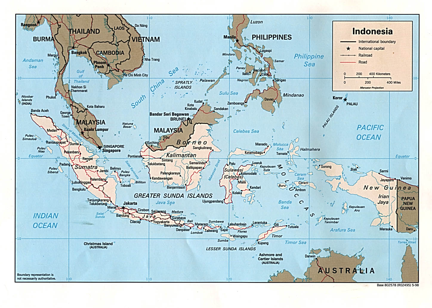 Small Scale Map Indonesia
