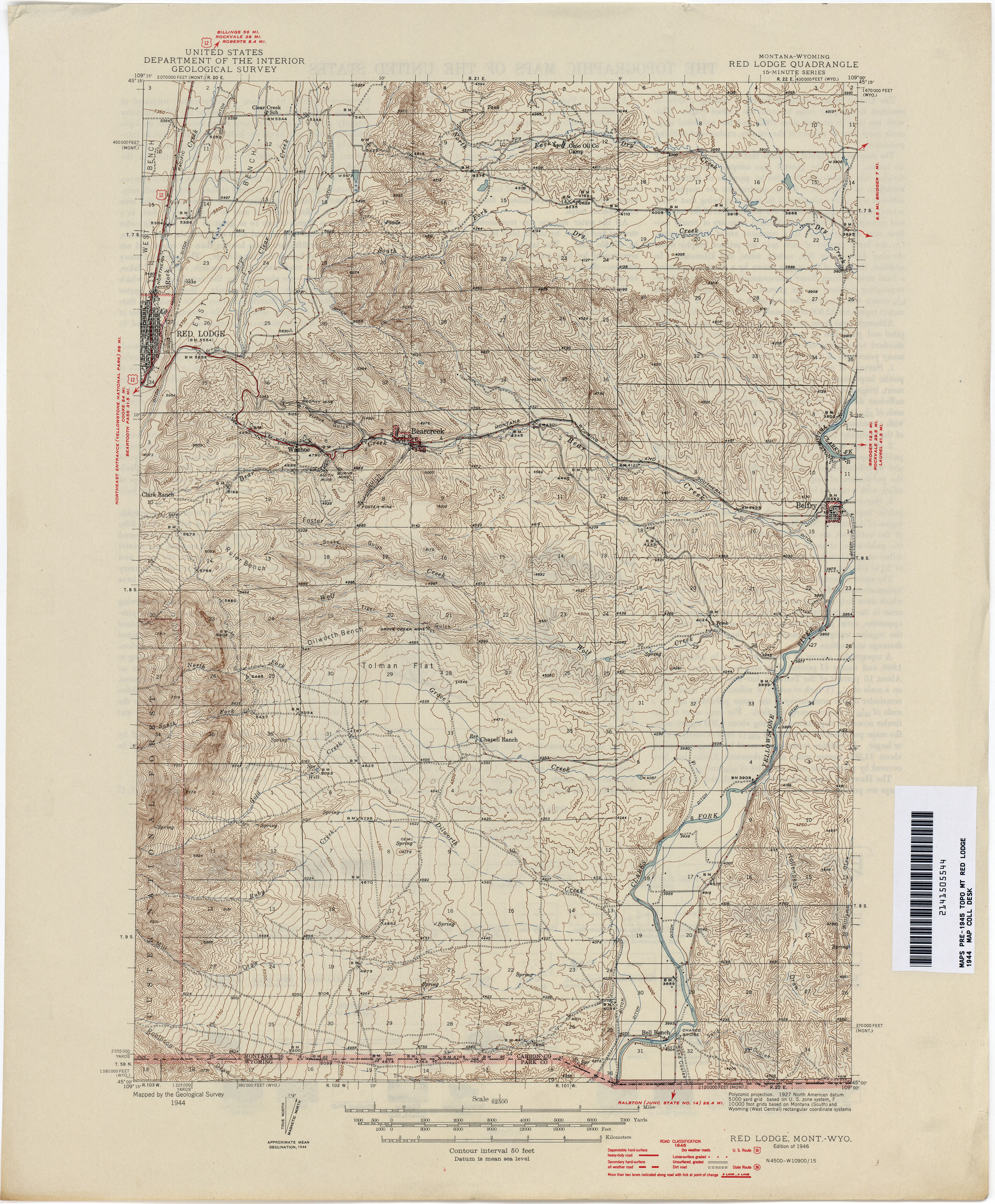 Montana Topographic Map Worksheet