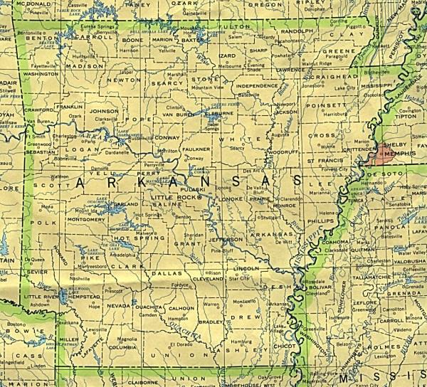 Arkansas Maps PerryCasta241eda Map Collection UT