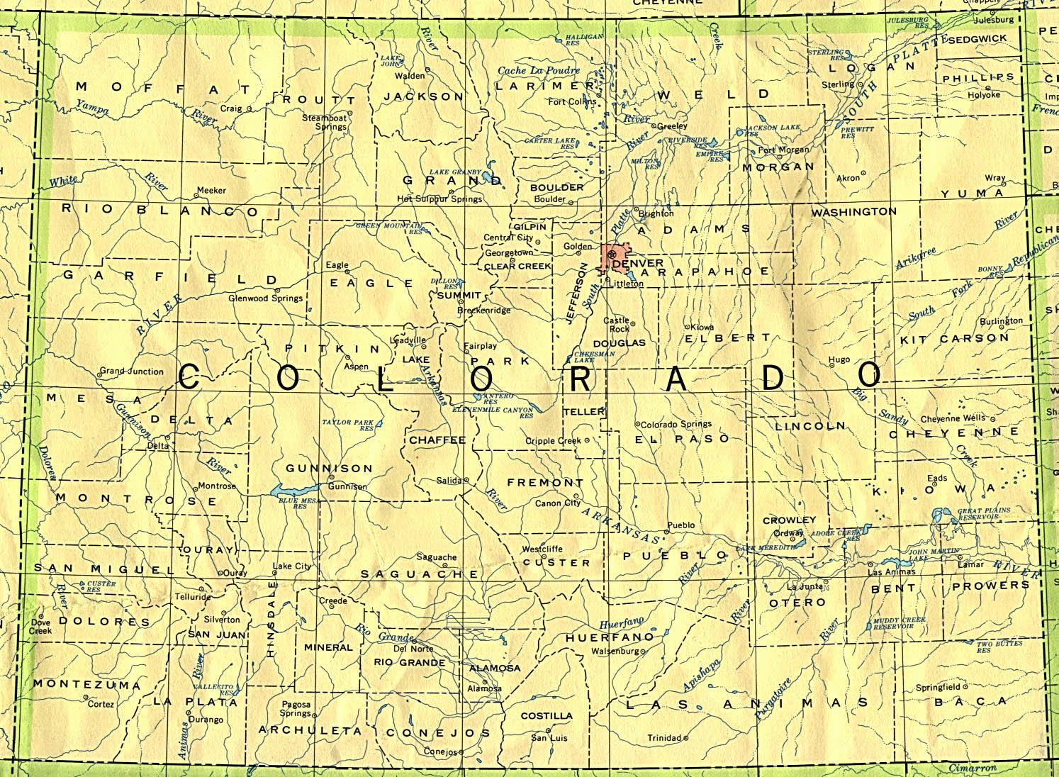 Map Colorado Springs Fountain