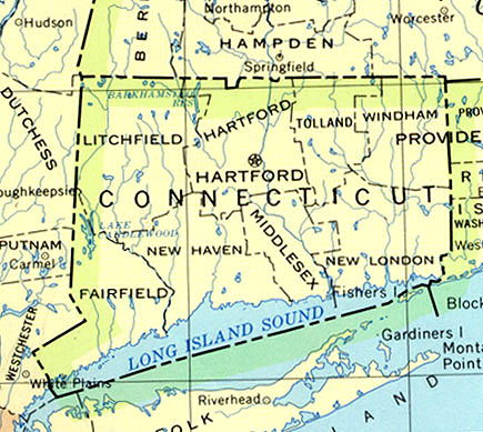 Connecticut Maps PerryCastañeda Map Collection UT