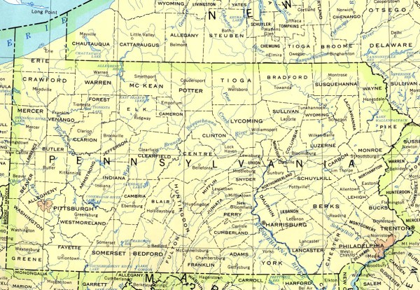 Pennsylvania Maps PerryCasta241eda Map Collection UT
