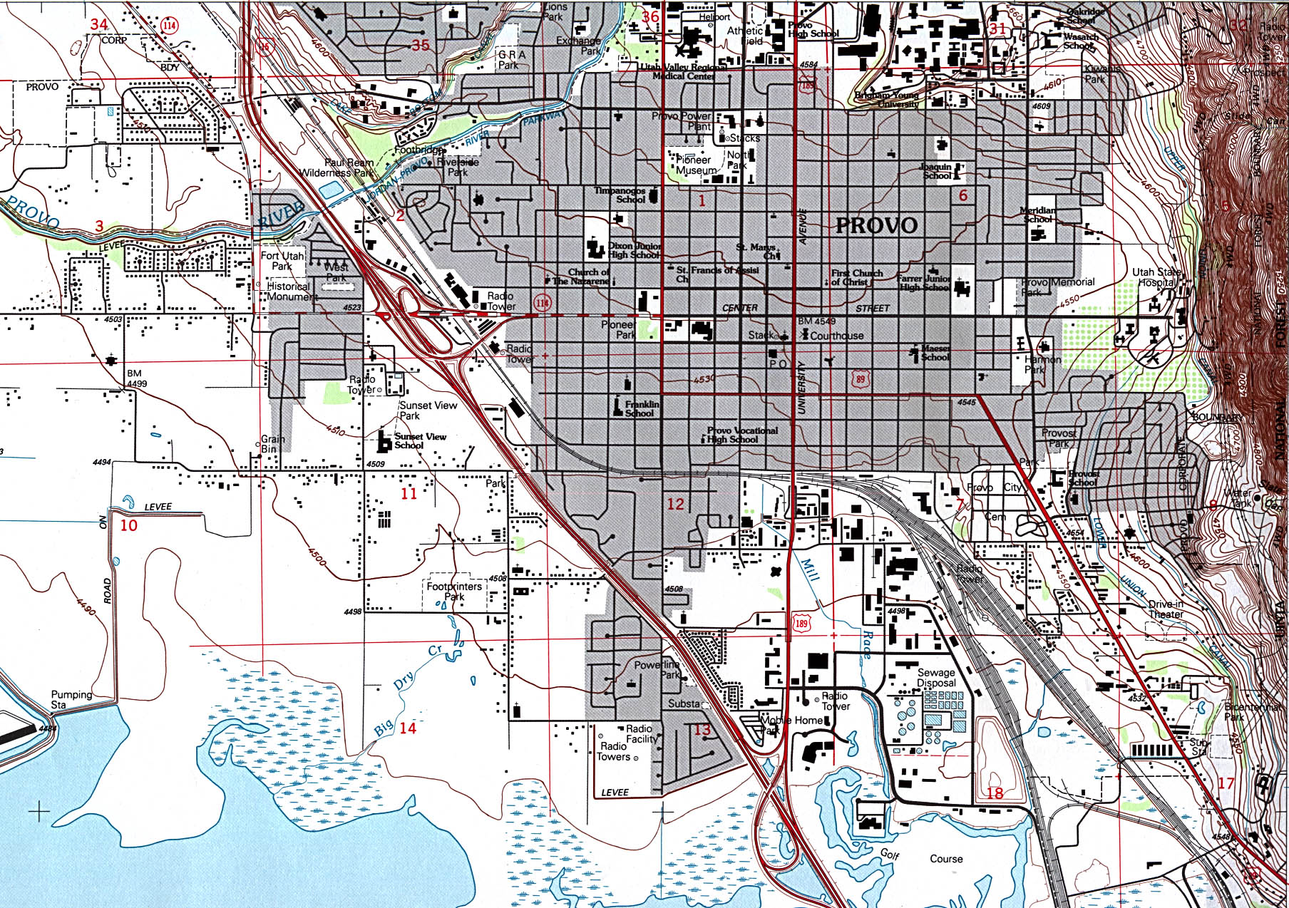 Streets St George Utah Map