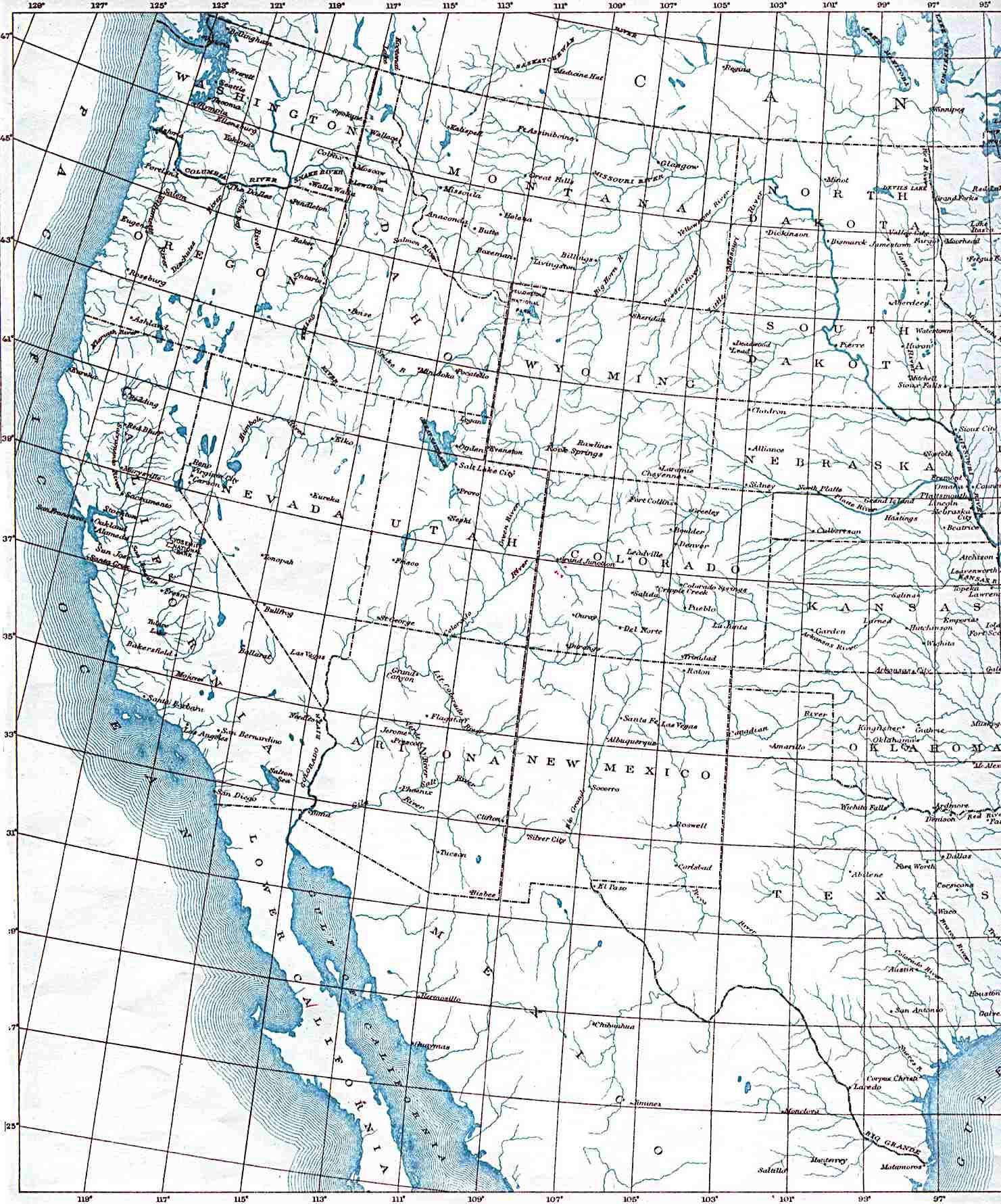B Utexas Maps United States Us West