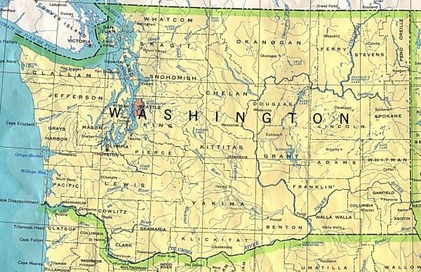 Washington Maps PerryCasta241eda Map Collection UT