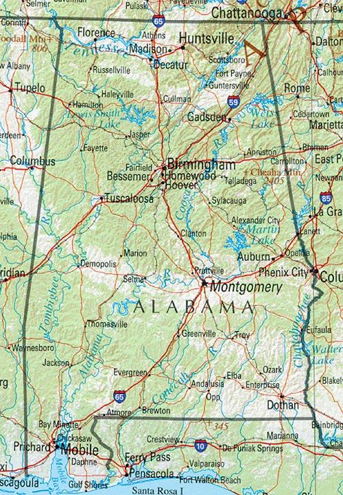 Alabama Maps PerryCastañeda Map Collection UT Library