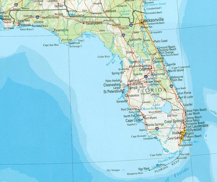 arval - mapa lumínico de florida