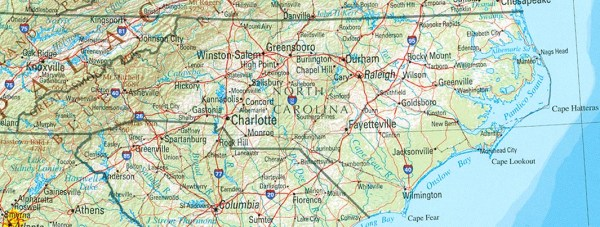North Carolina Maps PerryCastañeda Map Collection UT