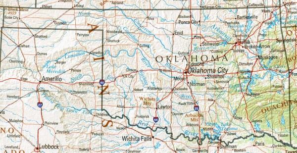 Oklahoma Maps PerryCastañeda Map Collection UT