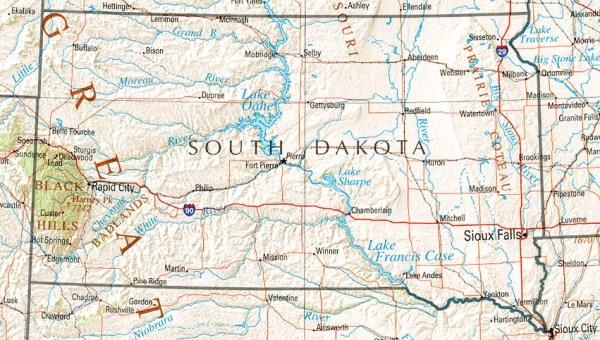 South Dakota Maps PerryCastañeda Map Collection UT