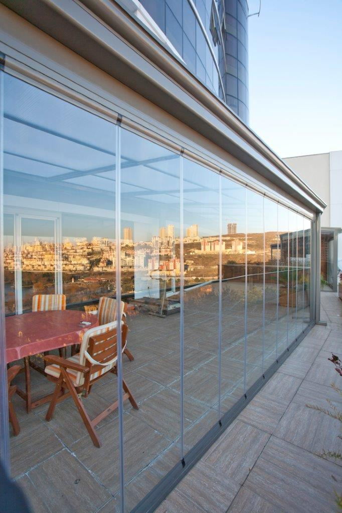 Retractable Glass Wall System in Istanbul