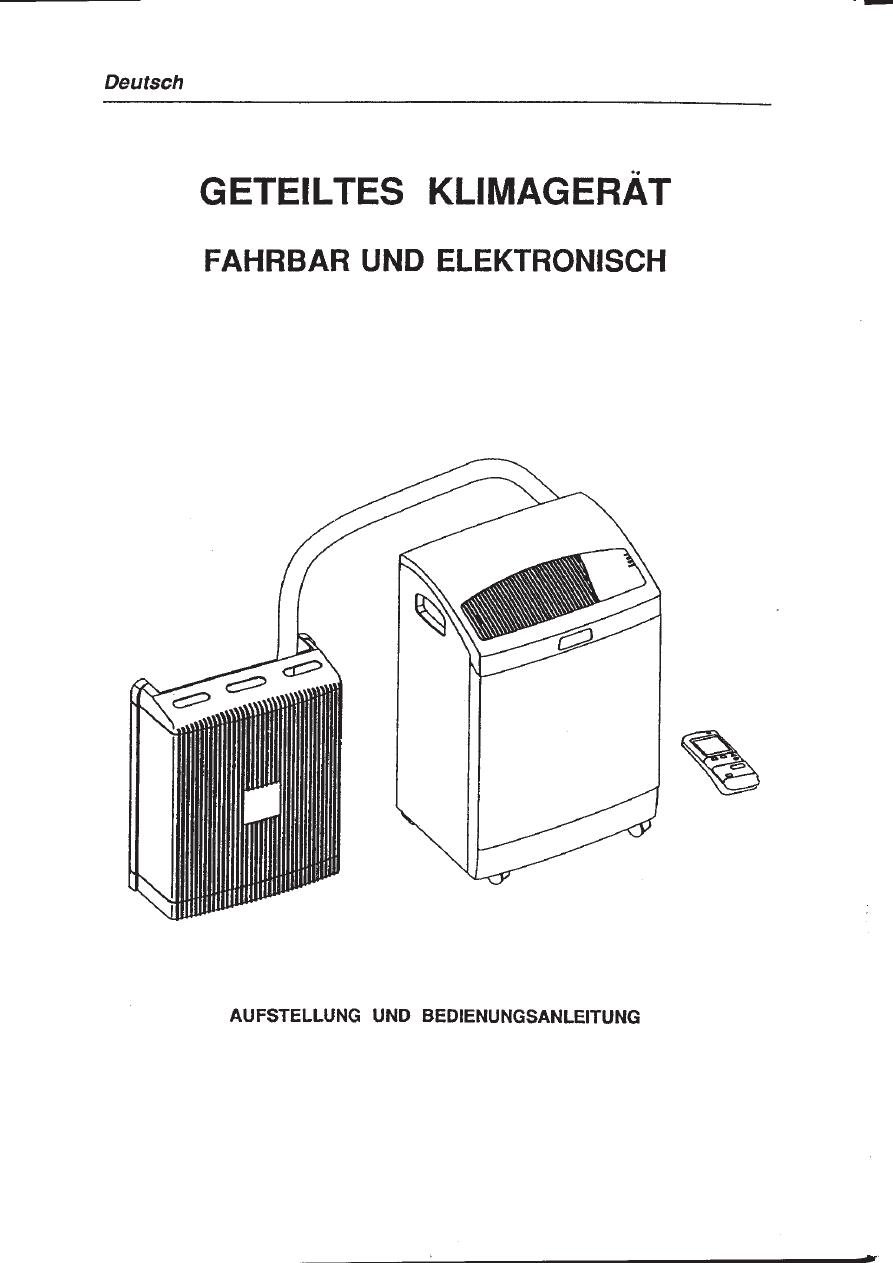 Electrolux Klimaanlage Bedienungsanleitung