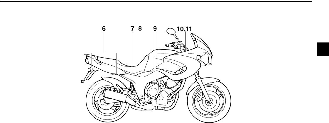 Bedienungsanleitung Yamaha TDM 850 (Seite 12 von 99) (Deutsch)