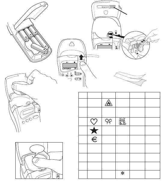 Bedienungsanleitung Dymo Letratag XR (Seite 4 von 30