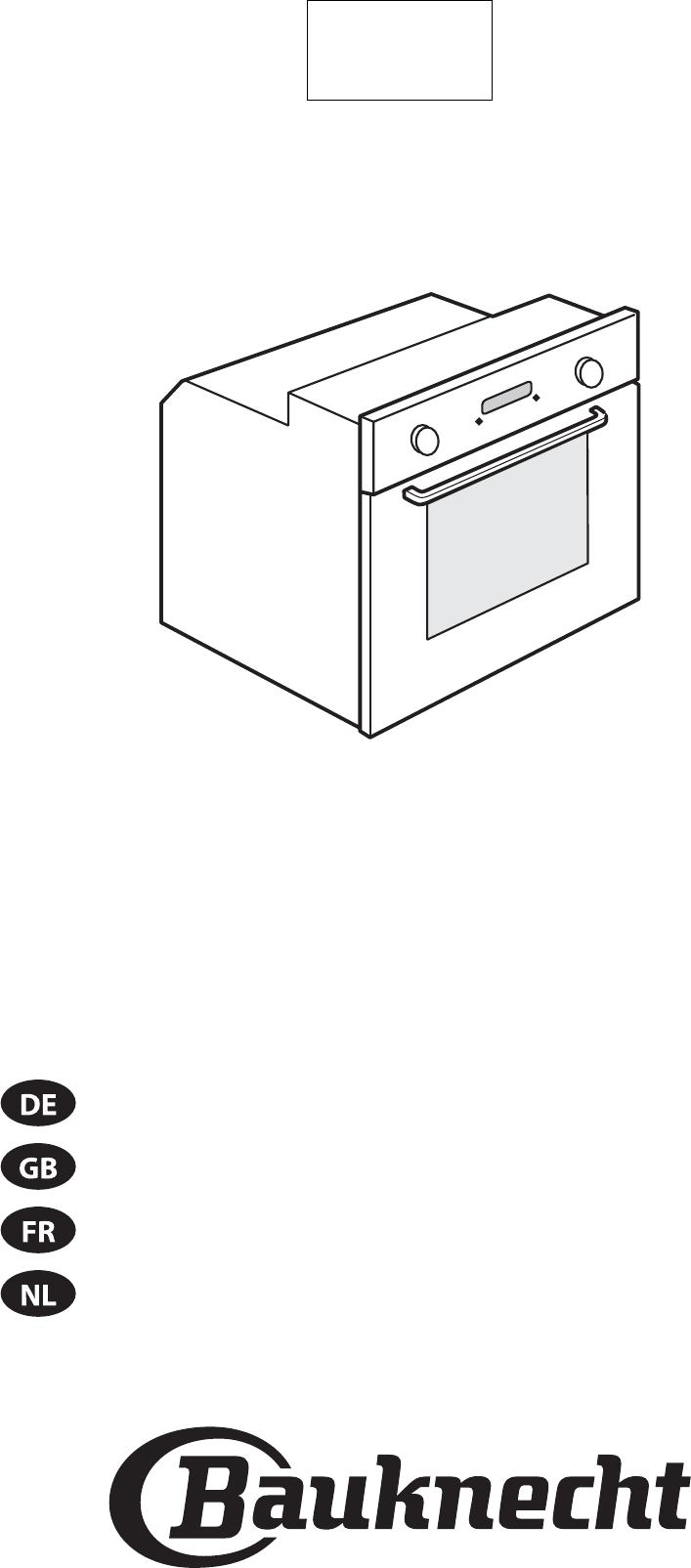 Bedienungsanleitung Bauknecht BMVE 8200-IN (Seite 1 von 84