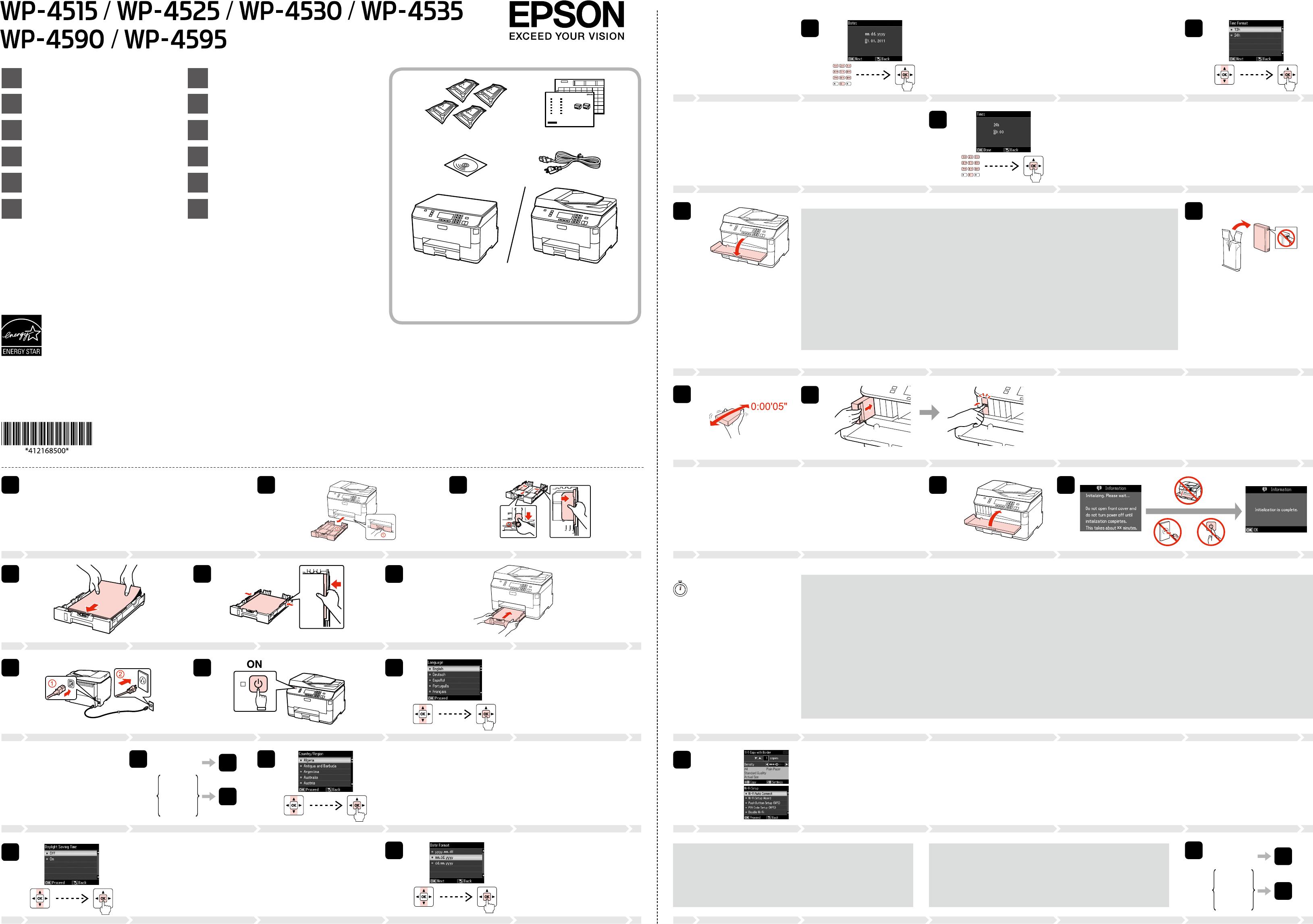 Bedienungsanleitung Epson WP-4535 (Seite 1 von 2) (Dänisch