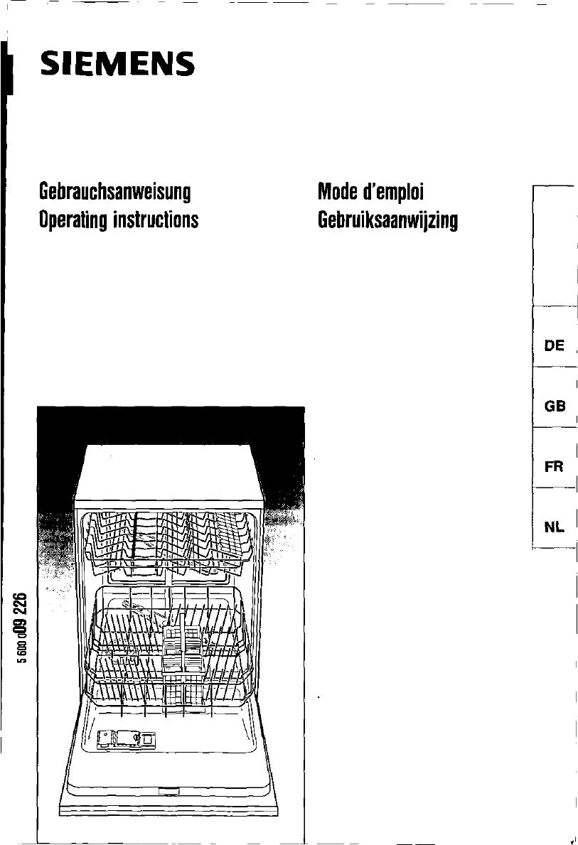 Siemens Spülmaschine Symbole Programme