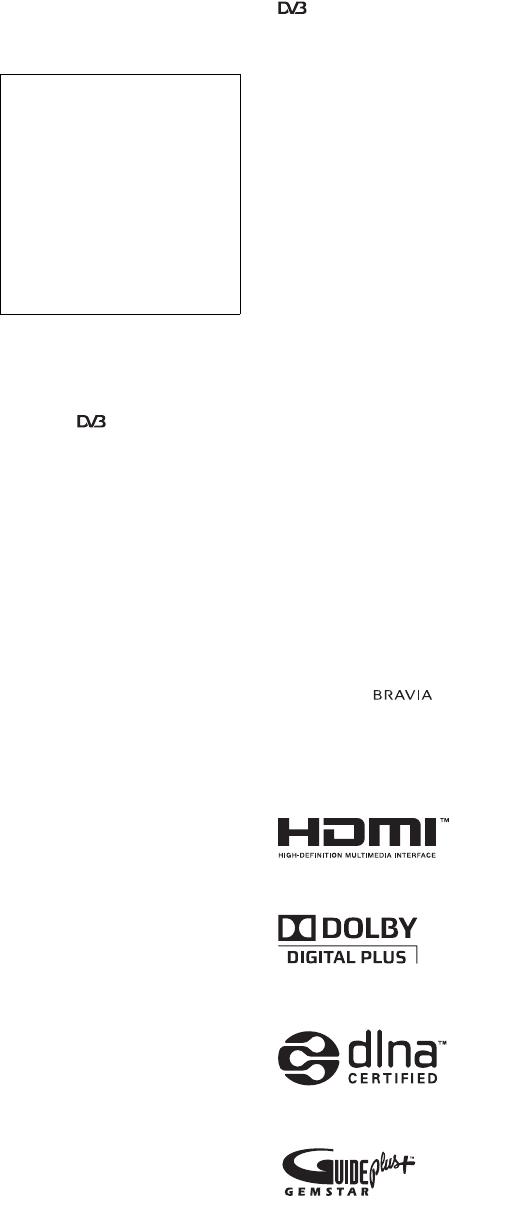 Bedienungsanleitung Sony KDL-40W5500 (Seite 2 von 327
